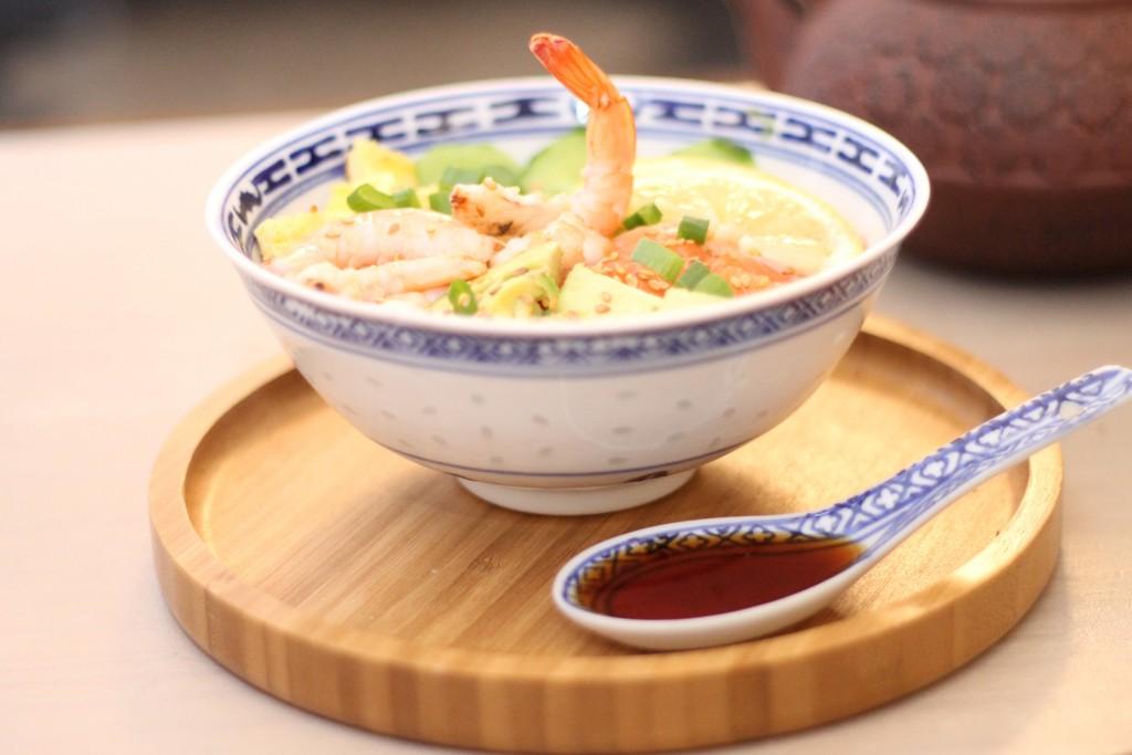 chirashi saumon et crevette